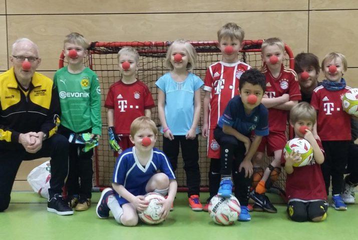 Mit Clown-Nasen macht Training noch mehr Spaß!